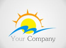 Sun logo Royalty Free Stock Images
