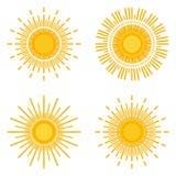 Sun logo Royalty Free Stock Images