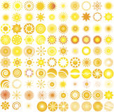 Sun  logo & design elements Royalty Free Stock Image