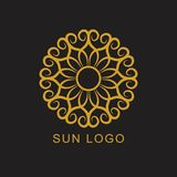 Sun Logo Icon Logotype Design Element Foto de archivo