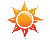 Sun Logo Icon Vector Stockbilder