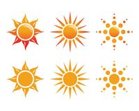Sun Logo Icon Vector Images stock