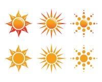Sun Logo Icon Vector Stock Afbeeldingen