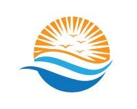 Sun Logo Icon Vector Template Stock Fotografie