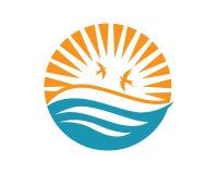 Sun Logo Icon Vector Template Stock Afbeelding