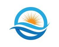 Sun Logo Icon Vector Template Royalty-vrije Stock Afbeeldingen