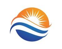 Sun Logo Icon Vector Template Stock Foto