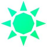 Sun Logo Poly Concept Illustrazione di Stock