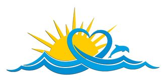 Sun Logo with the sea.
