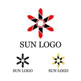 Sun logo template. This logo is great for many business and company Stock Images