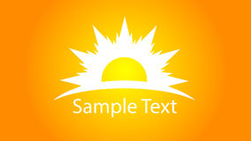 Sun logo with text Stock Photo
