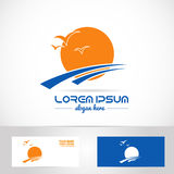 Sun logo tourism holiday travel agency Stock Photos