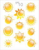 Sun logo  on a white background Royalty Free Stock Photography