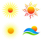 Sun logos stock illustration