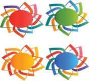 Sun logos Royalty Free Stock Photo