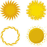 Sun logos (vector) Royalty Free Stock Image