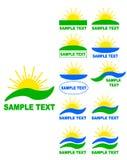 Sun logos. Stock Photo