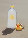 Sun lotion Stock Image