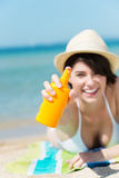 Sun Lotion Royalty Free Stock Photography