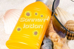 Sun lotion Stock Images