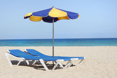 Sun-lounger Foto de Stock Royalty Free