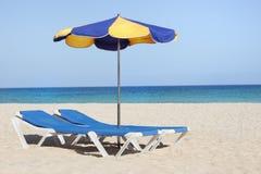 Sun-lounger royalty free stock photo