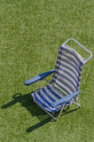 Sun lounger in blue and white Royalty Free Stock Photos