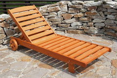 Sun lounger in the garden Stock Image