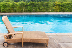 The sun lounger by the pool Stock Image