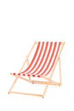 Sun lounger in stripes Stock Photo