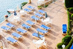 Sun loungers Royalty Free Stock Image