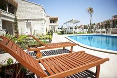 Sun loungers Royaltyfria Foton