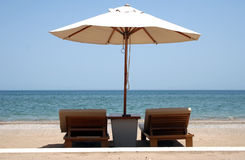 Sun Loungers Royalty Free Stock Photos