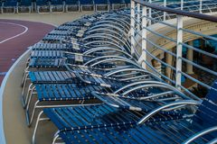 Sun loungers Royalty Free Stock Images