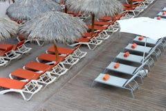 Sun loungers Stock Photography