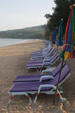 Sun Loungers on Phucket Beach Stock Images