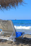 The sun loungers by the sea Royalty Free Stock Photography