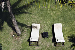 Sun loungers Royalty Free Stock Photo
