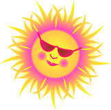 Sun lunático/eps Fotos de Stock Royalty Free