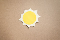 The sun made from paper vector illustration