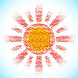 Sun made of scattered balls Stock Photos