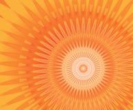 Sun mandala. Background solar mandala color tuned from red to orange Royalty Free Stock Images