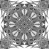 Sun mandala. Vector mandala isolated black on white Stock Photography