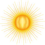 Sun with many rays Stock Images