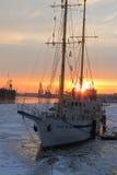 Sun at masts stock photos