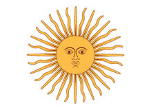 Sun of May. Vector illustration Royalty Free Stock Photography