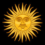 Sun of May / Sol de Mayo royalty free illustration