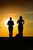 Sun meditation Royalty Free Stock Photography