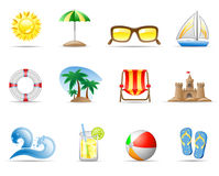 Sun-Meer und Strand Stockfotos