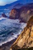 Sun messo a Big Sur Immagine Stock Libera da Diritti